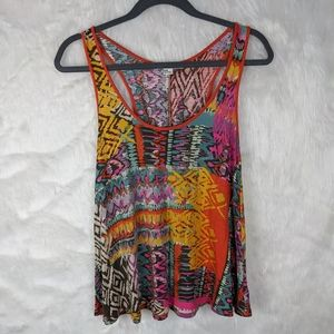 Forever 21 colorful tribal tank